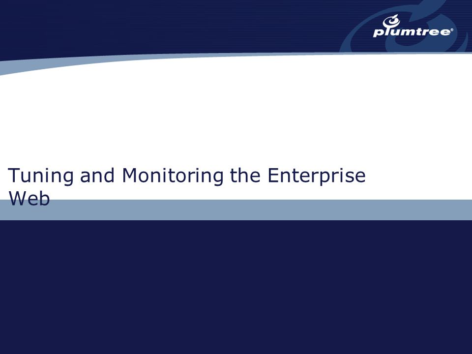 Tuning and Monitoring the Enterprise Web