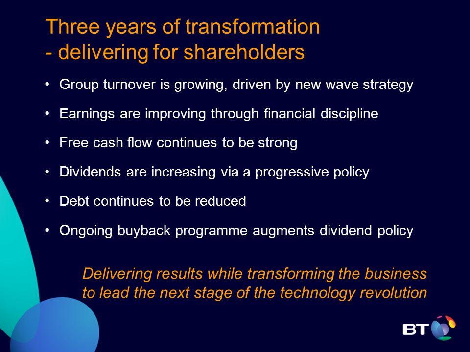 Q2 Results 2004/05 BT Group plc Ben Verwaayen, CEO Transformation accelerates