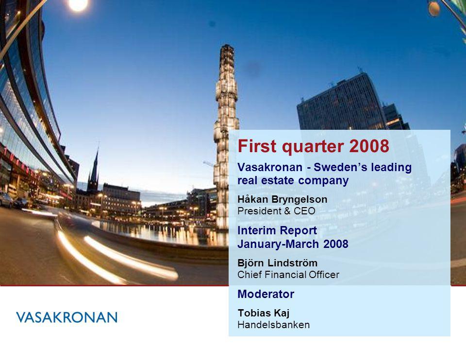 Vasakronan – Sweden's leading real estate company Håkan Bryngelson President & CEO