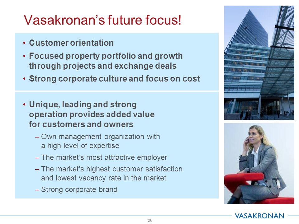 28 Vasakronan's future focus.