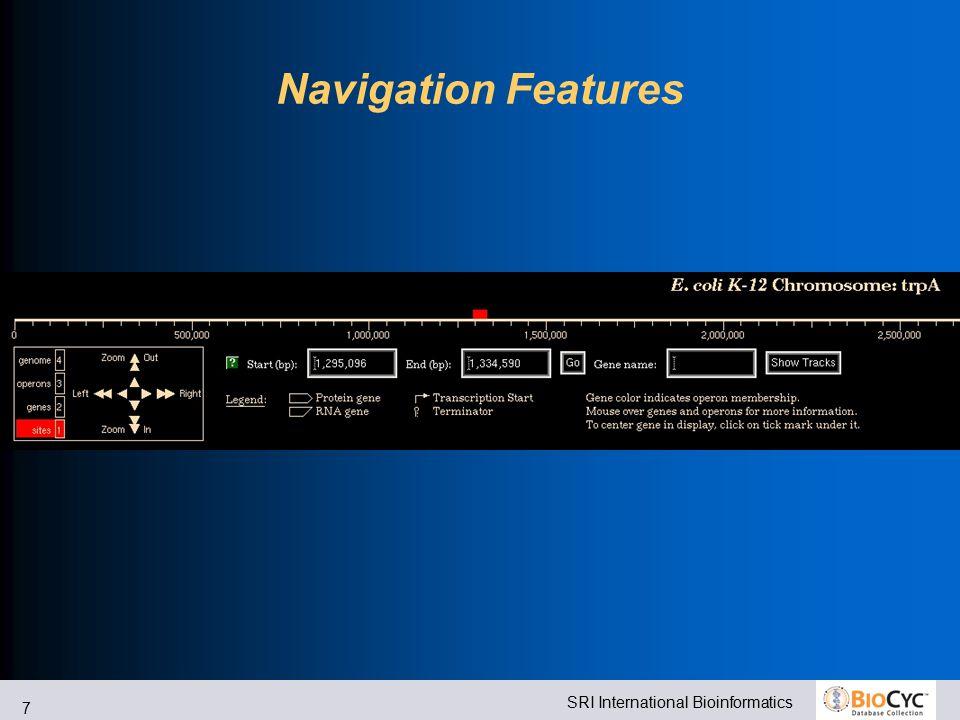 SRI International Bioinformatics 7 Navigation Features