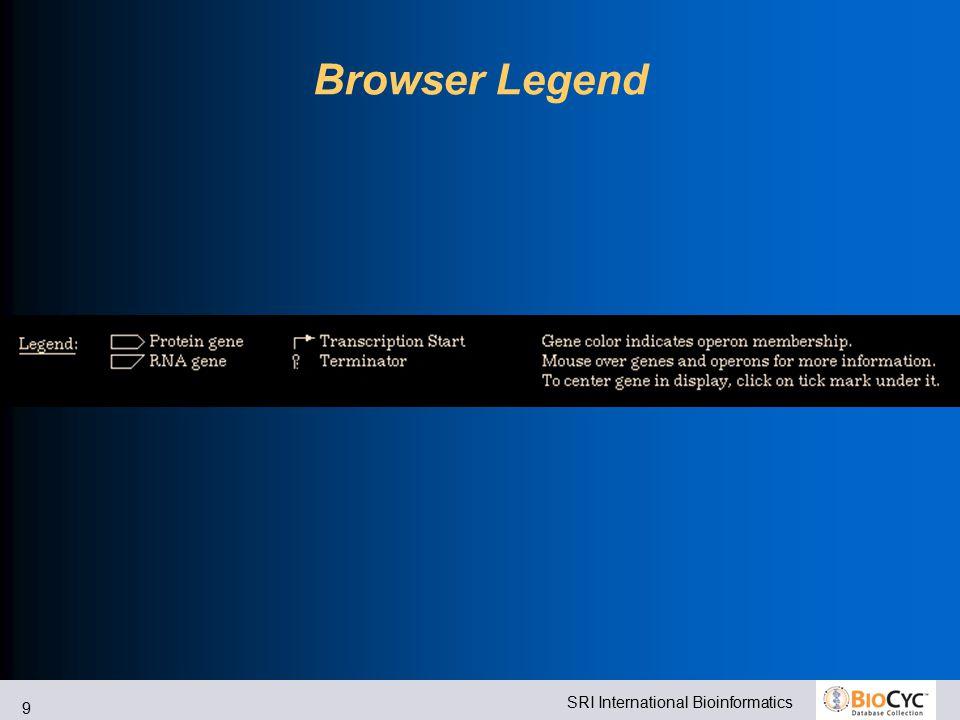 SRI International Bioinformatics 9 Browser Legend