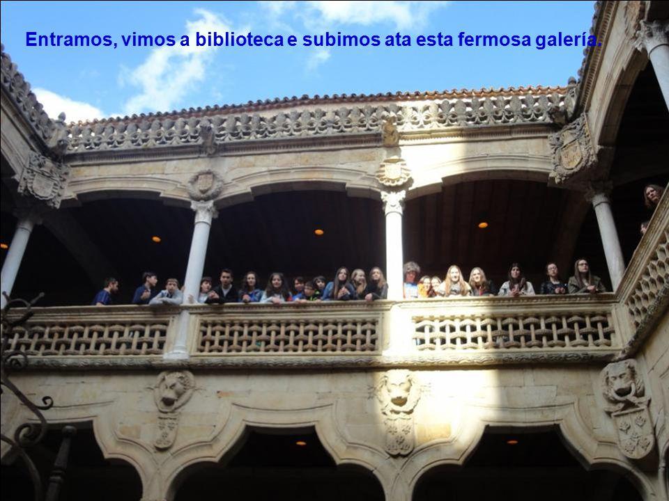 Logo comezamos a percorrer a cidade. Coñecemos a Salamanca literaria e a artística.