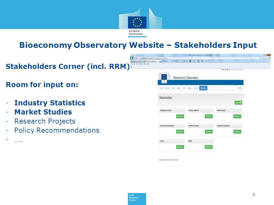 Stakeholders Corner (incl.