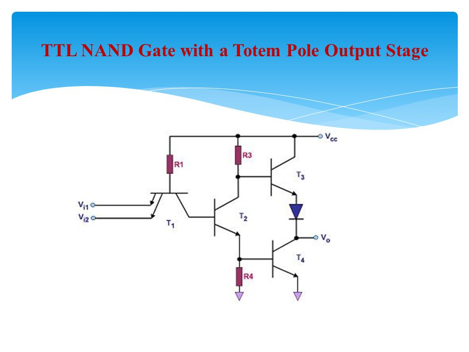 TTL NAND Gate with a Totem Pole Output Stage