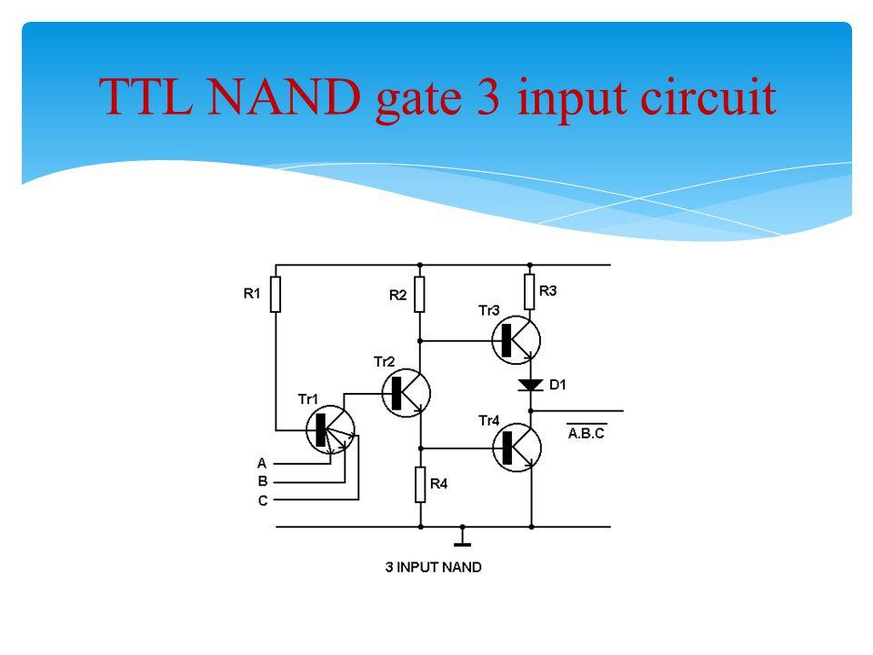 TTL NAND gate 3 input circuit