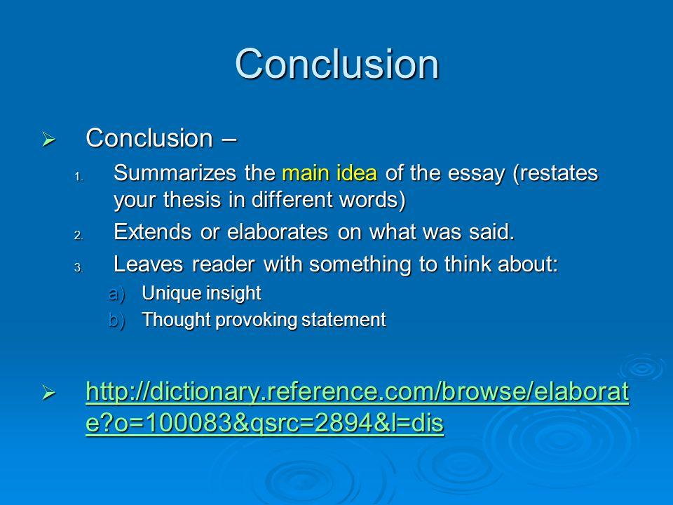 Conclusion  Conclusion – 1.