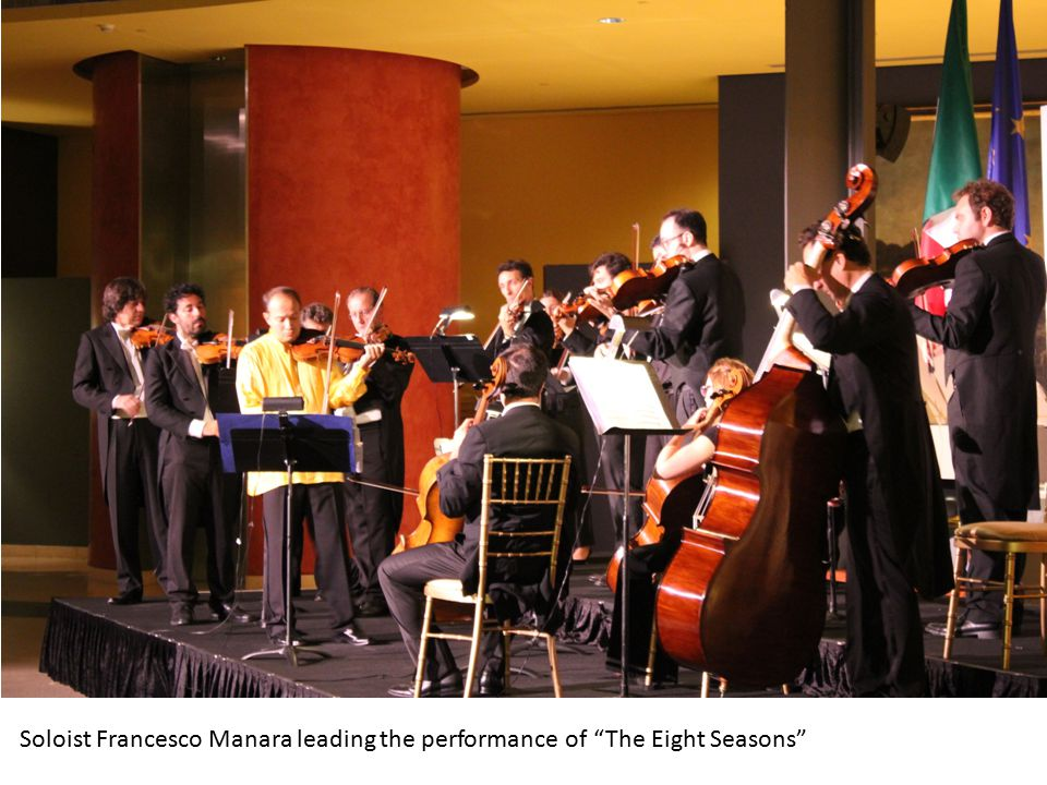 About 500 guests attended the concert by Cameristi della Scala at the Embassy of Italy