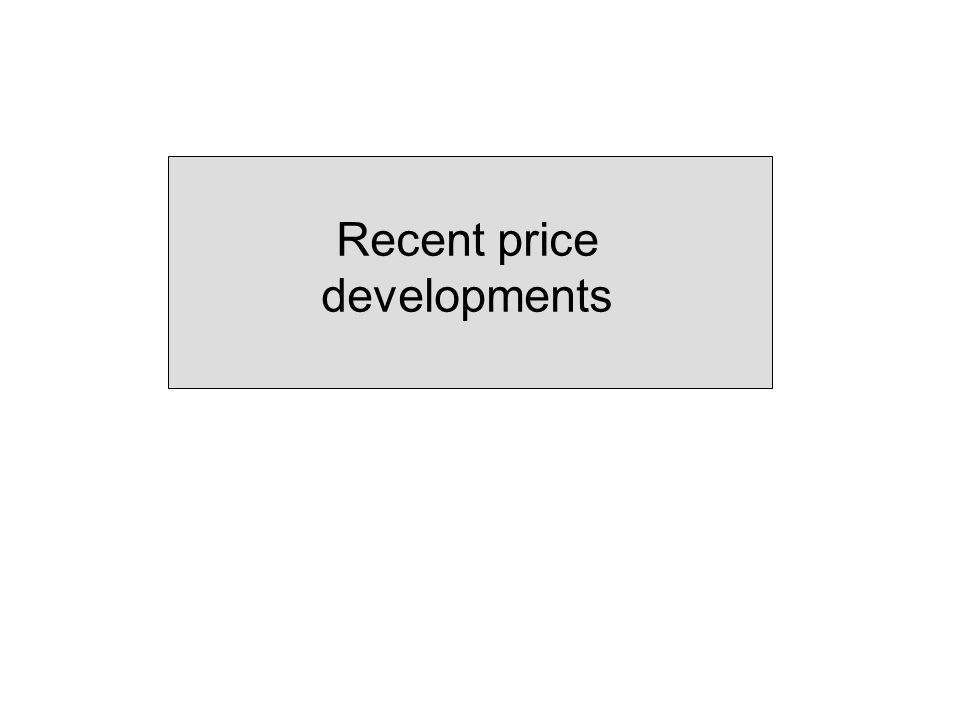 Recent price developments