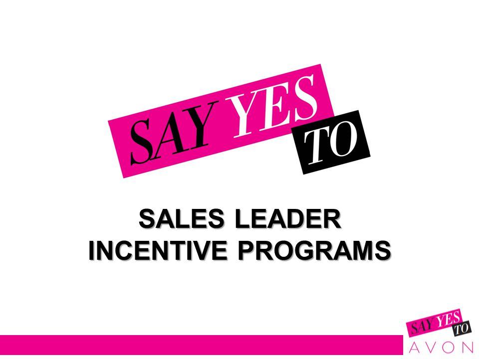SALES LEADER INCENTIVE PROGRAMS