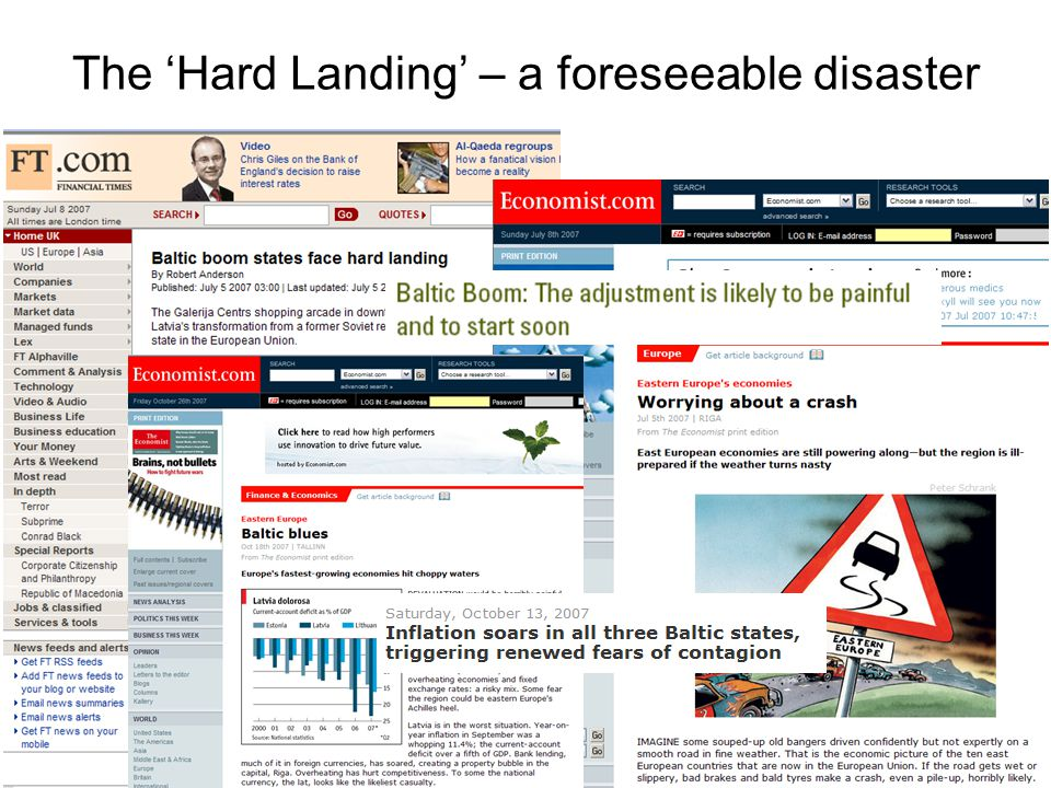 The 'Hard Landing' – a foreseeable disaster