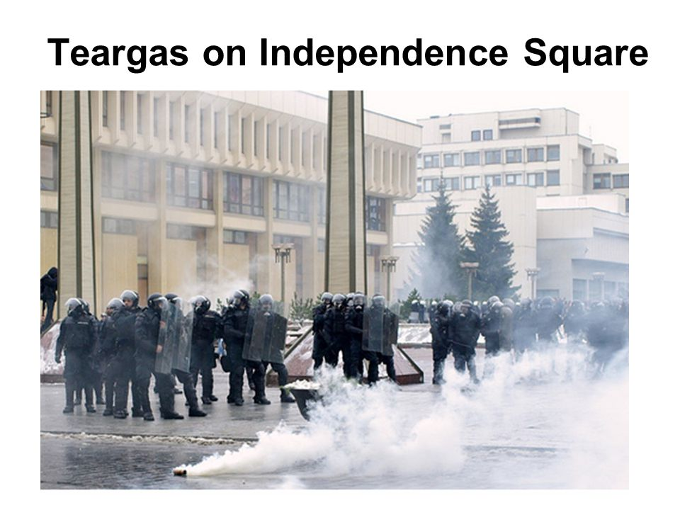 Teargas on Independence Square