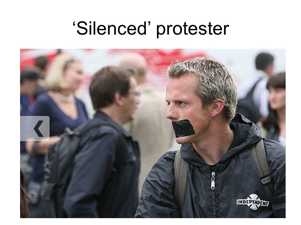 'Silenced' protester