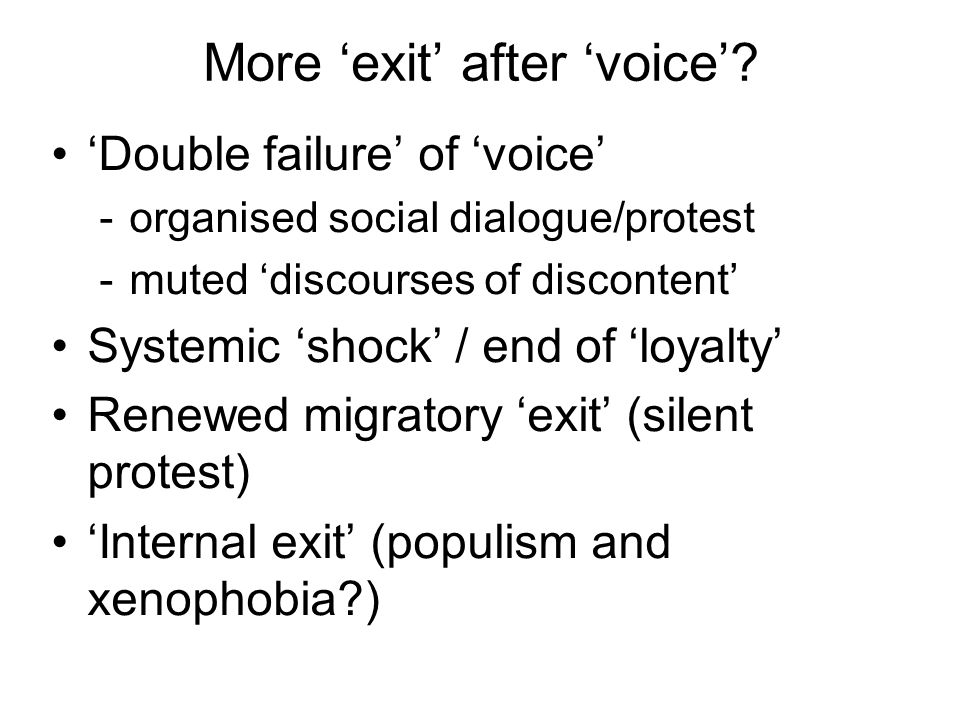 More 'exit' after 'voice'.