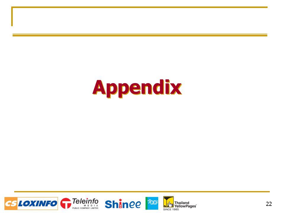 22 Appendix