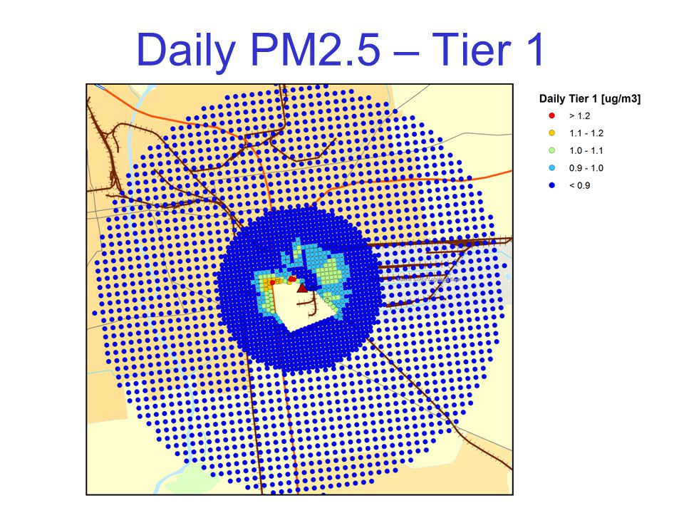 Daily PM2.5 – Tier 1