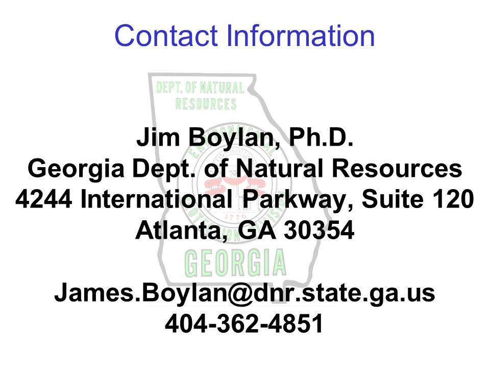Jim Boylan, Ph.D. Georgia Dept.