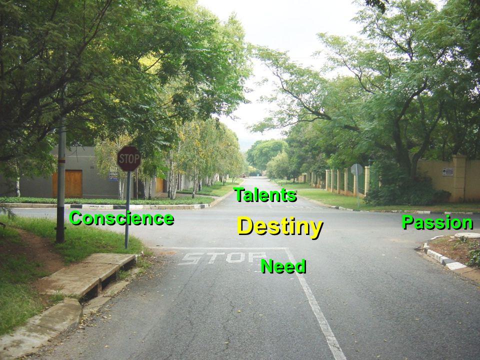 Destiny Need Talents Passion Conscience