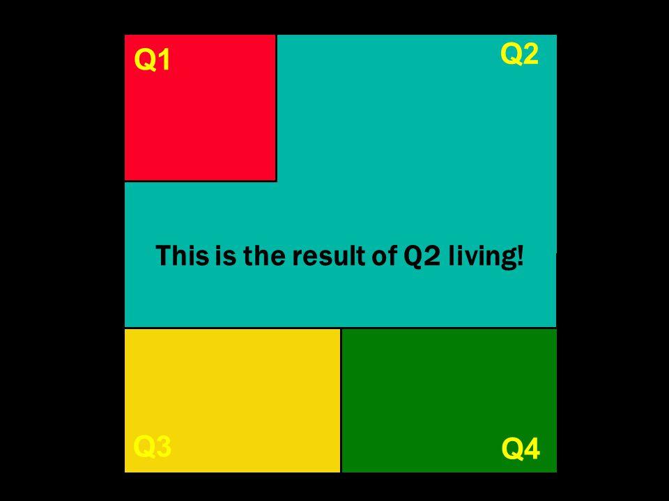 Q1 Q3Q4 Q1 Q4 Q3 Q2 This is the result of Q2 living!