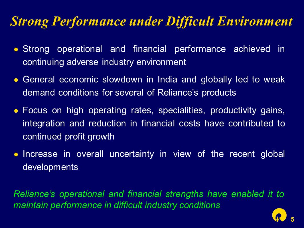 5 Strong Performance under Difficult Environment Strong operational and financial performance achieved in continuing adverse industry environment Gene