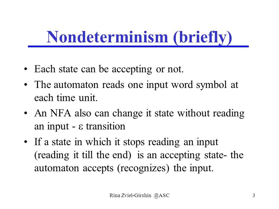 Rina Zviel-Girshin @ASC34 Example  ({q2},a)={q1}  ({q2},b)={q2} q0,q1