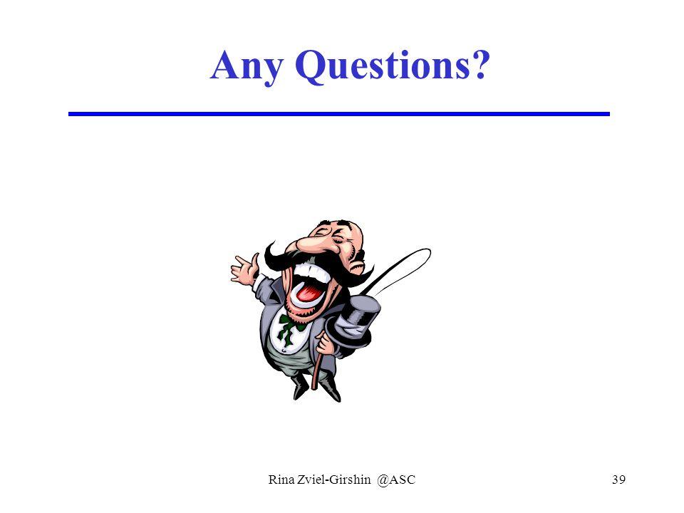 Rina Zviel-Girshin @ASC39 Any Questions