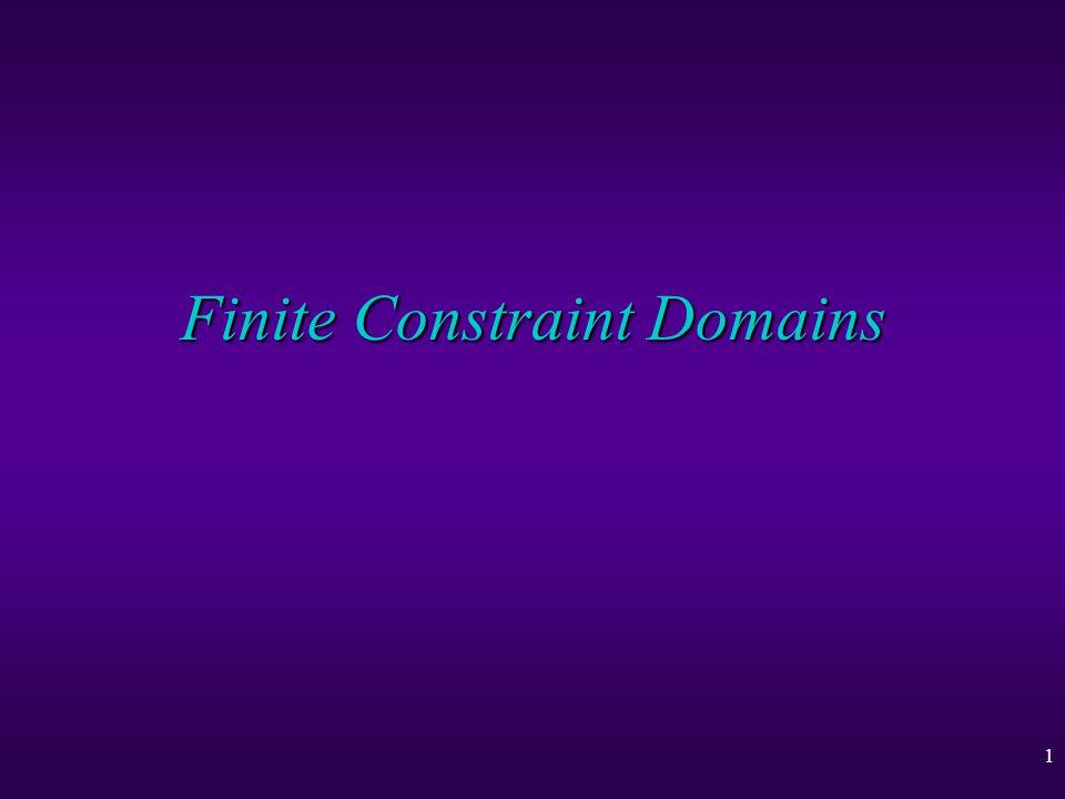1 Finite Constraint Domains