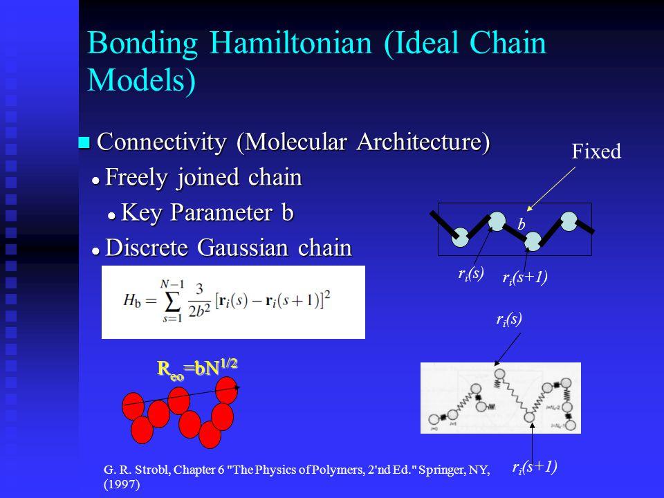 Bonding Hamiltonian (Ideal Chain Models) Connectivity (Molecular Architecture) Connectivity (Molecular Architecture) Freely joined chain Freely joined