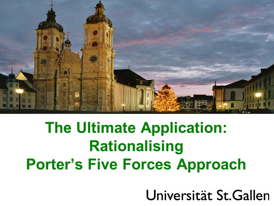 The Ultimate Application: Rationalising Porter's Five Forces Approach