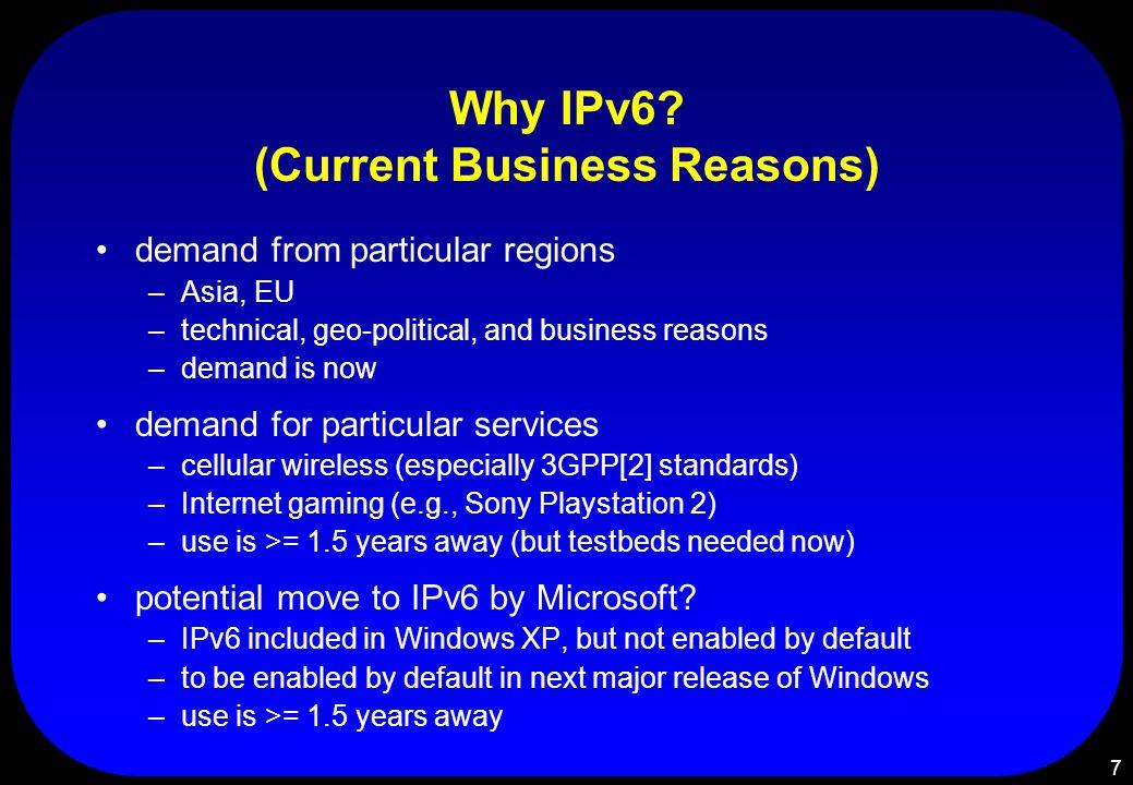 7 Why IPv6.