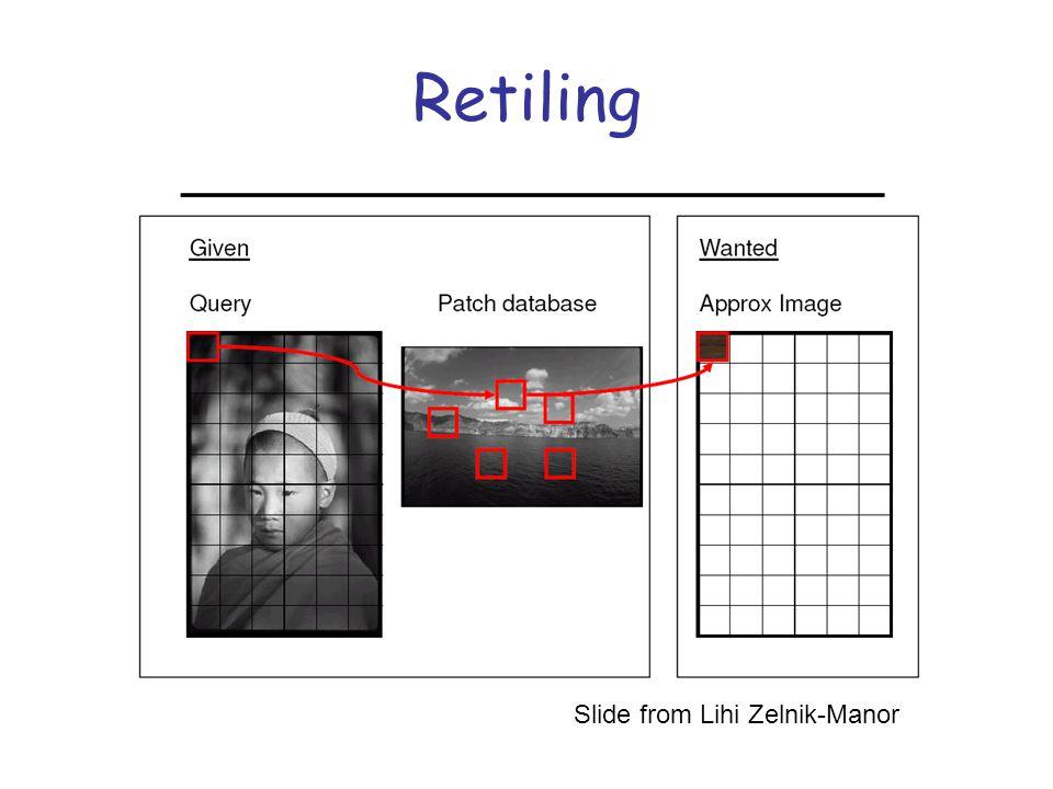 Retiling Slide from Lihi Zelnik-Manor