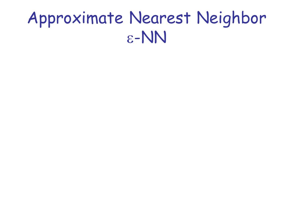 Reduction from  -NN to r-PLEB The two problems are connected –r-PLEB is like a decision problem for  -NN