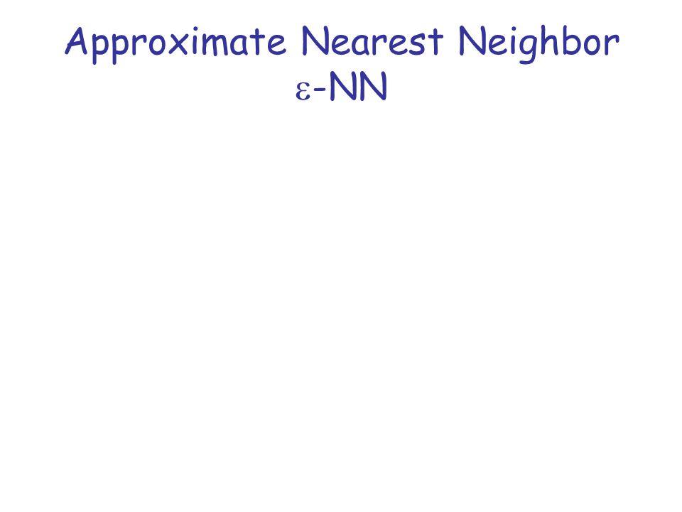 Approximate Nearest Neighbor  -NN