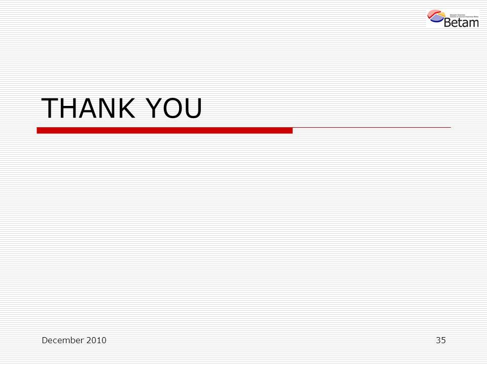 December 201035 THANK YOU