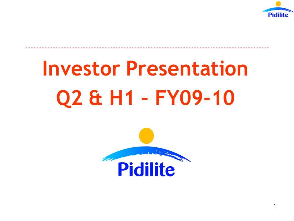 ------------------------------------------------------------------------------------------ 1 Investor Presentation Q2 & H1 – FY09-10