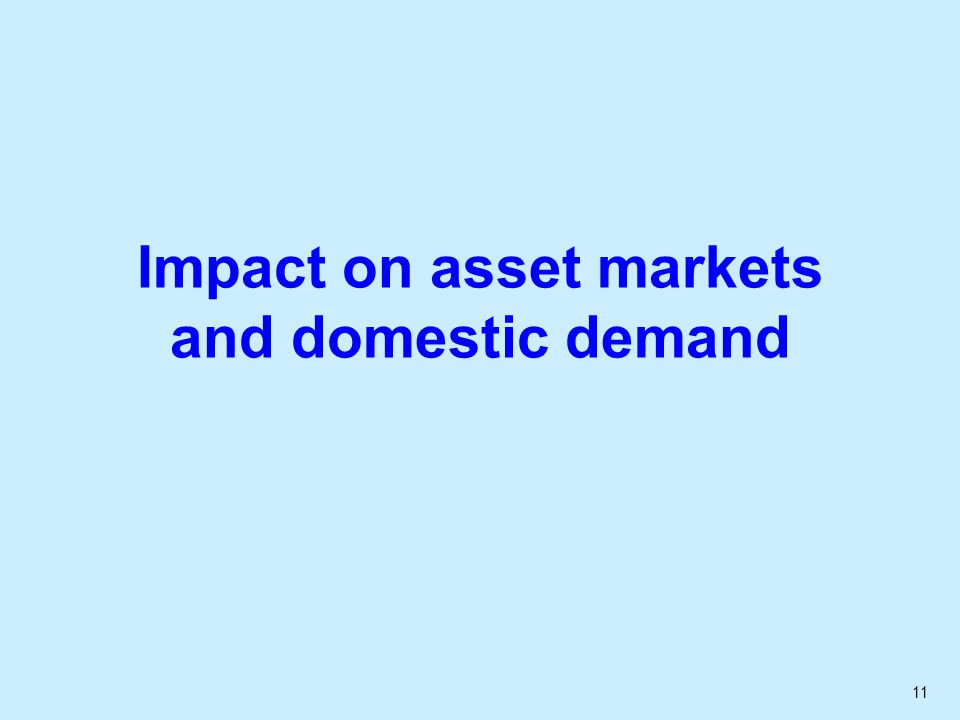 11 Impact on asset markets and domestic demand