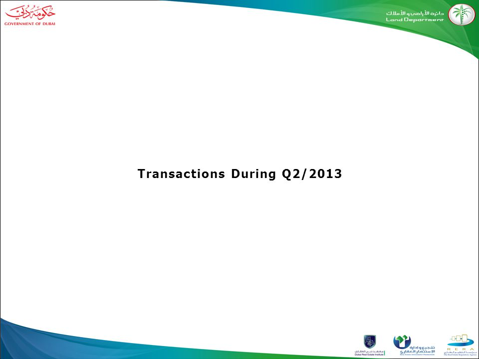 Transactions During Q2/2013
