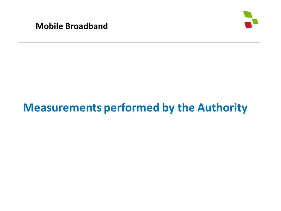 Mobile Broadband Measurements performed by the Authority