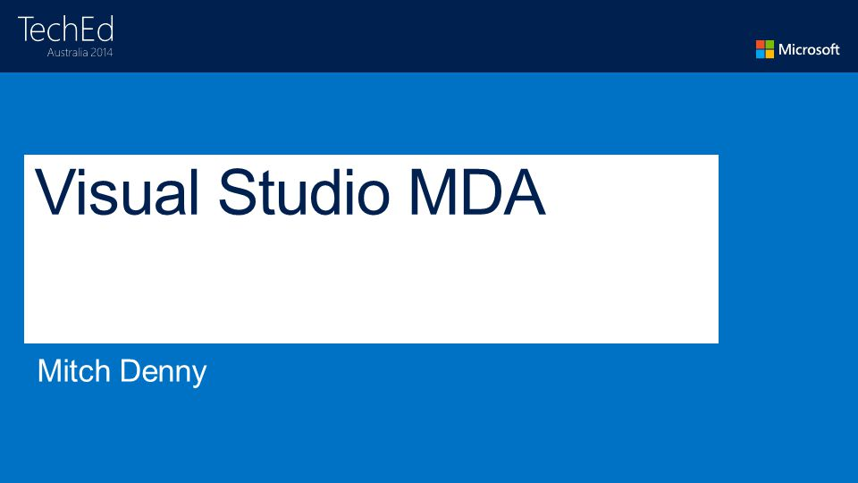 Visual Studio MDA
