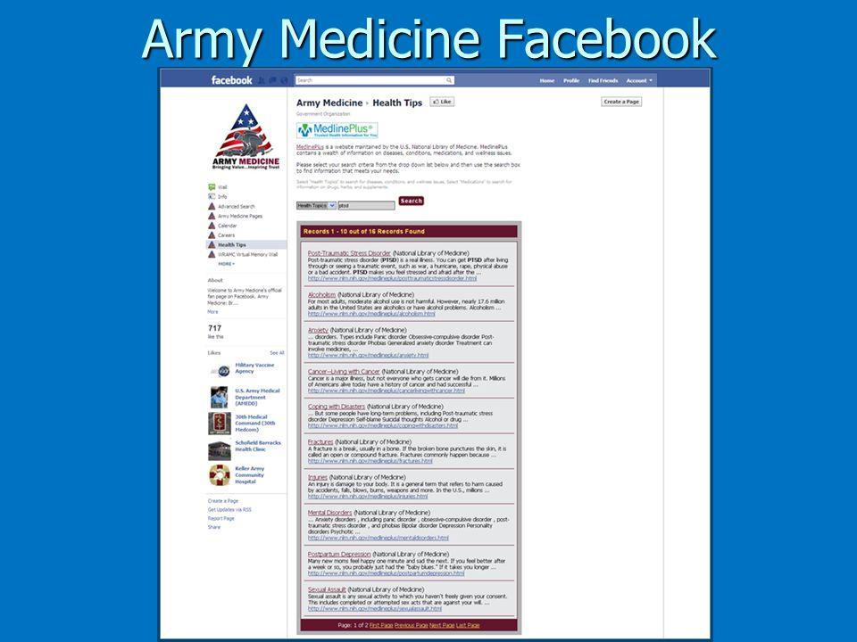 Army Medicine Facebook
