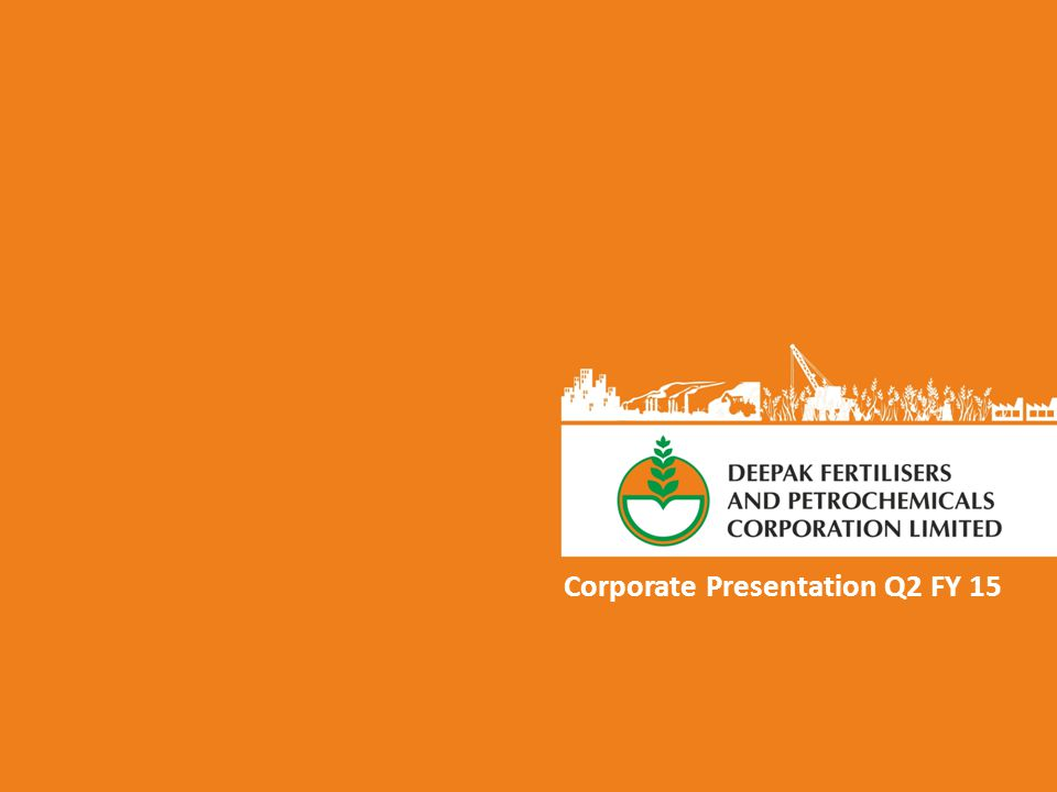 Corporate Presentation Q2 FY 15
