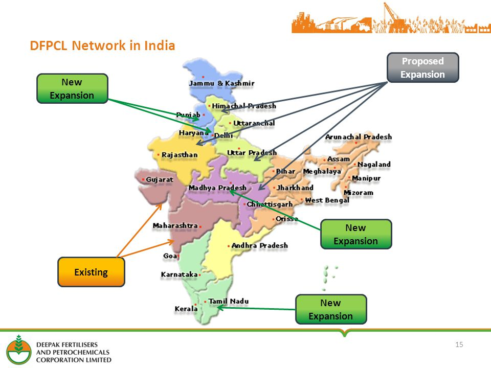 DFPCL Network in India 15 Existing Proposed Expansion New Expansion