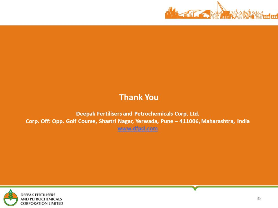35 Thank You Deepak Fertilisers and Petrochemicals Corp.