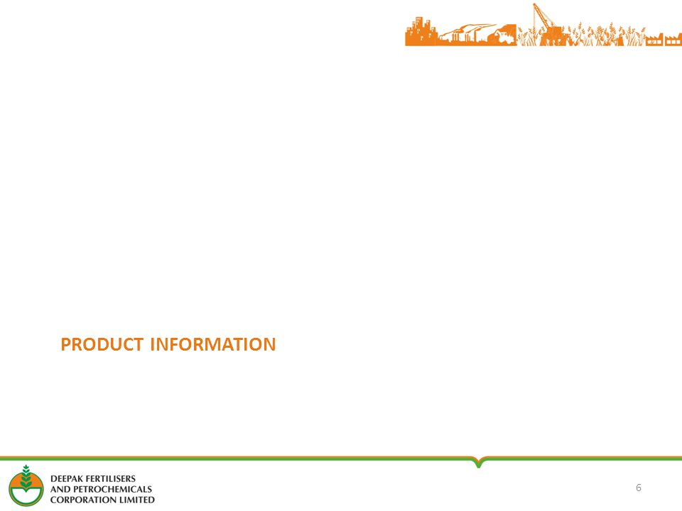 PRODUCT INFORMATION 6