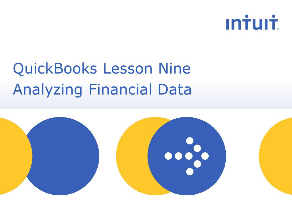 people QuickBooks Lesson Nine Analyzing Financial Data