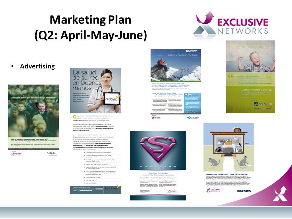 Marketing Plan (Q2: April-May-June) Advertising
