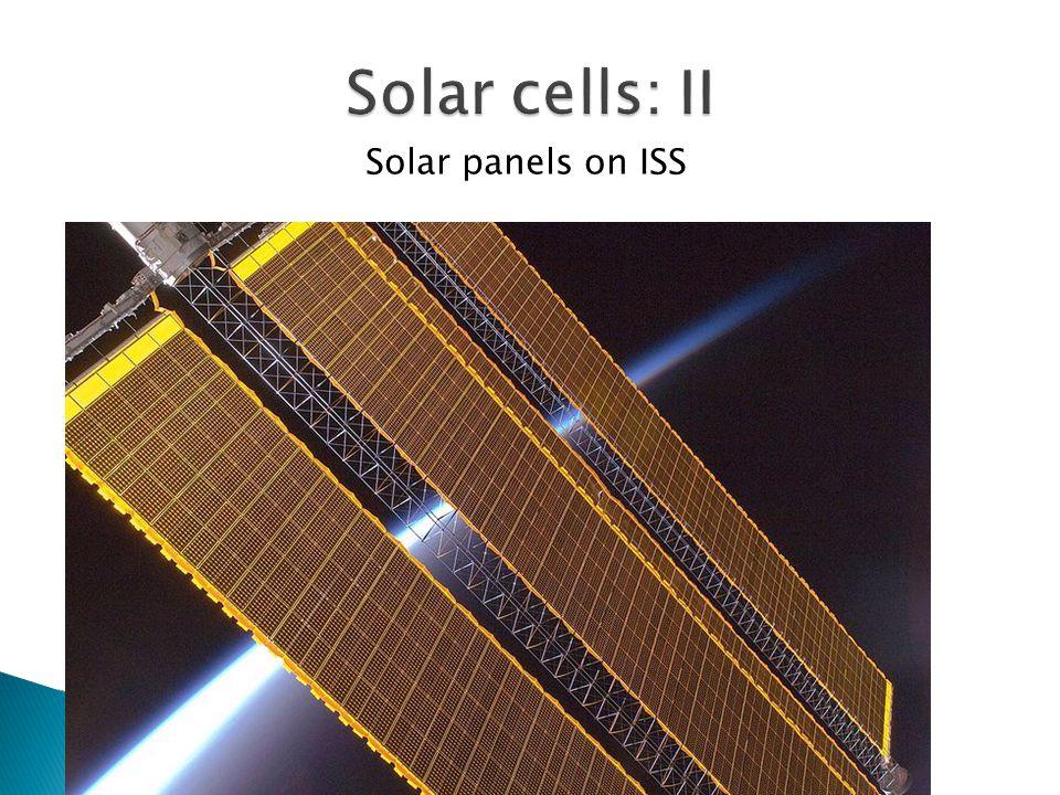 Solar panels on ISS