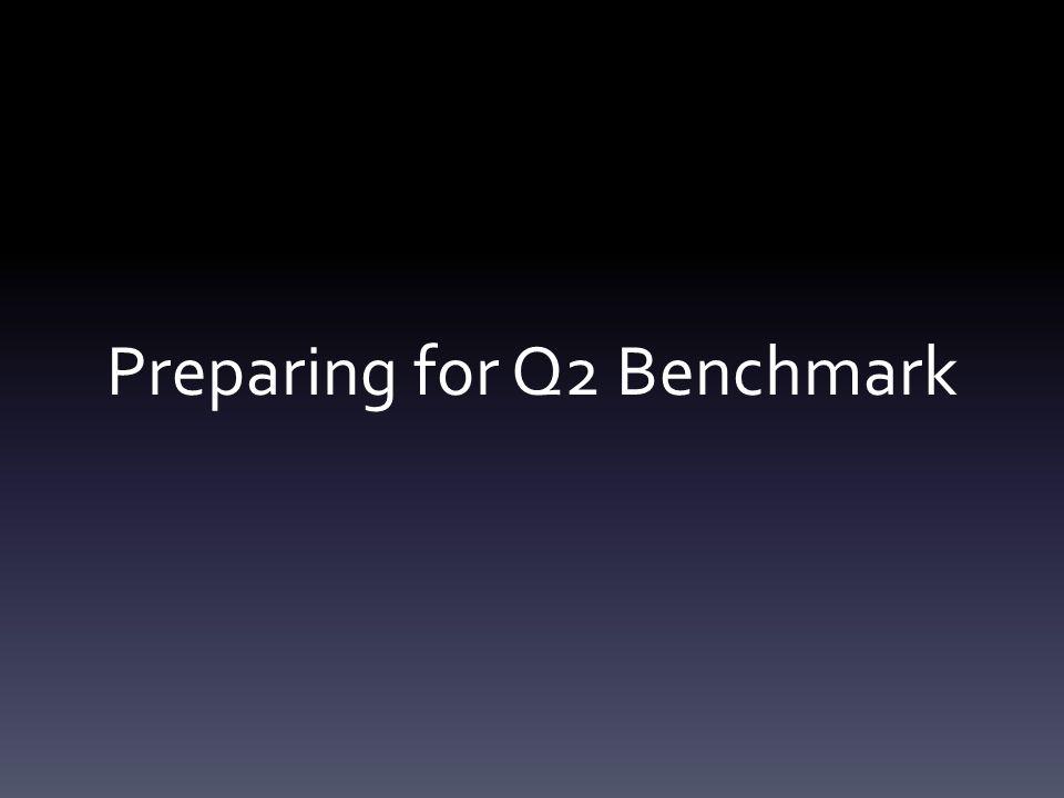 Preparing for Q2 Benchmark