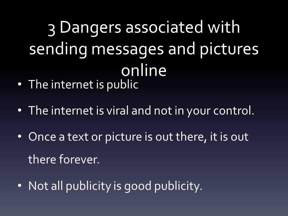 Problem & Solution What are 3 solutions to the 3 dangers associated with the internet?
