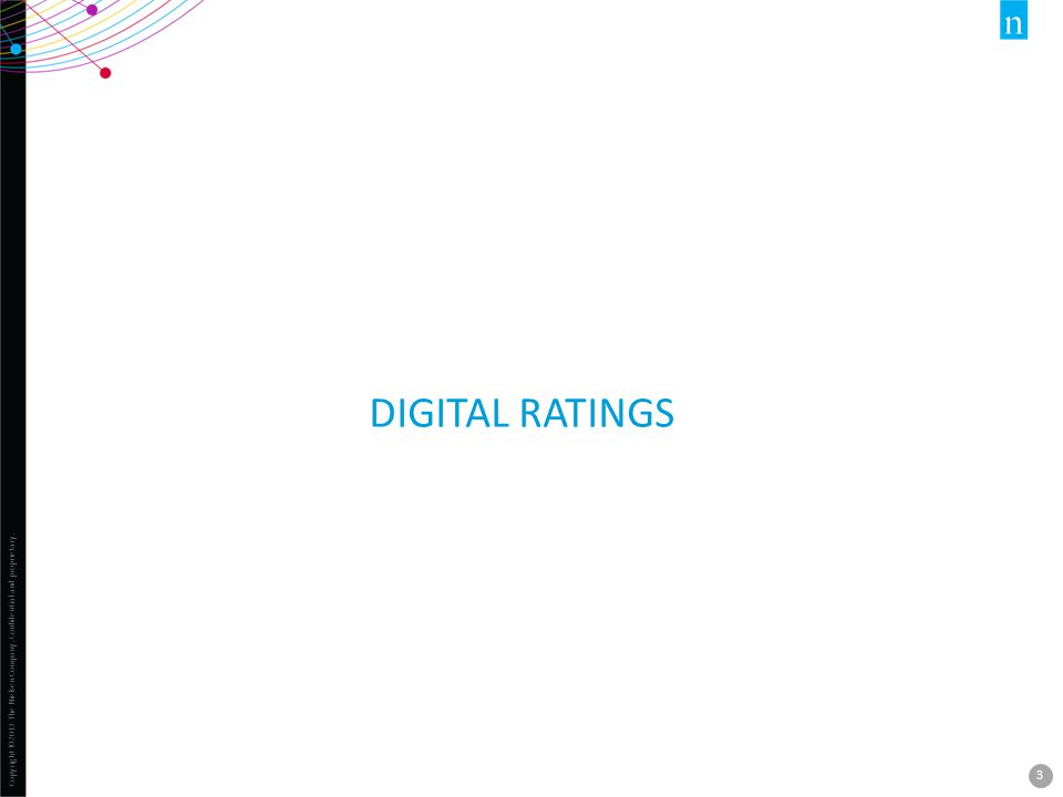 Copyright ©2013 The Nielsen Company. Confidential and proprietary. 3 DIGITAL RATINGS